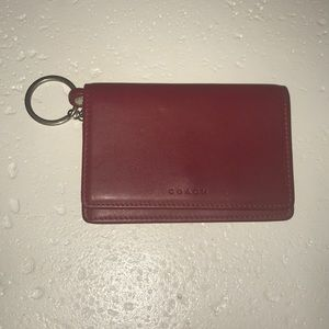 Coach keychain purse